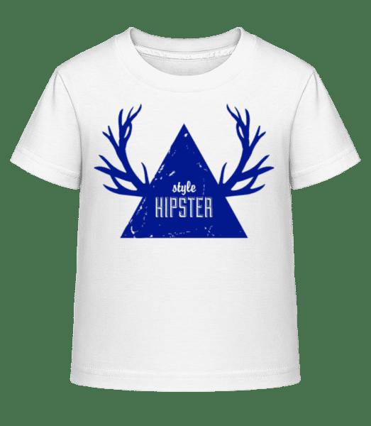Bedrové Triangle Antlers - Detské Shirtinator tričko - Biela - Predné