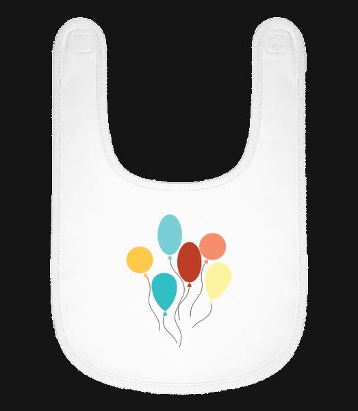 Many Balloons - Baby Bib - White - Vorn