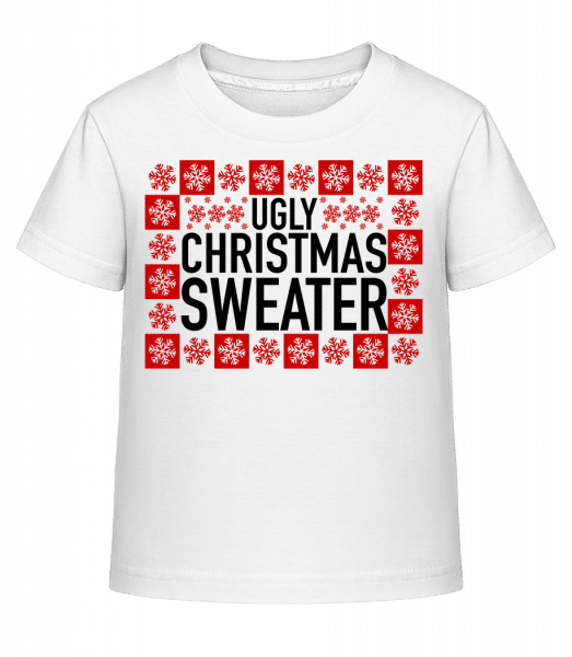 Ugly Christmas Sweater - Kid's Shirtinator T-Shirt - White - Vorn