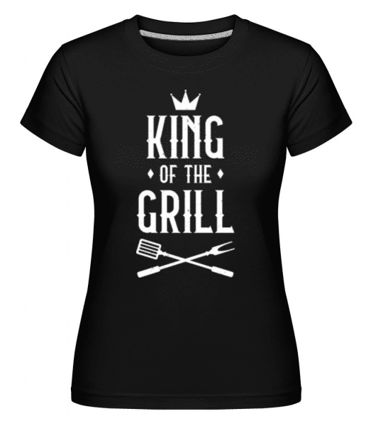 King Of The Grill -  Shirtinator Women's T-Shirt - Black - Front