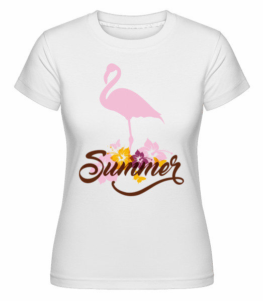 Summer Flamingo -  Shirtinator Women's T-Shirt - White - Vorn