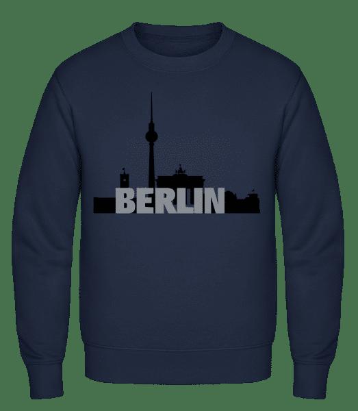 Berlin Germany - Männer Pullover - Marine - Vorn