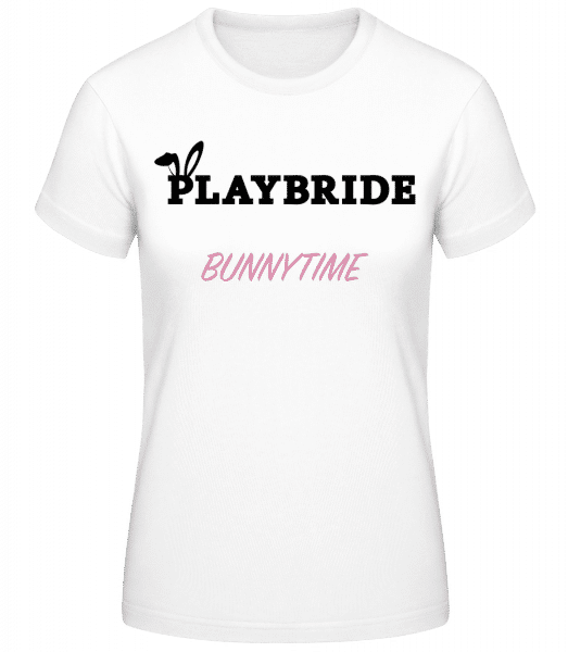 Playbride Bunnytime - Women's Basic T-Shirt - White - Front