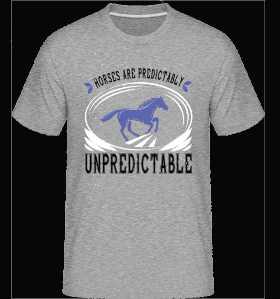 Horses Are Predictably Unpredictable -  Shirtinator Men's T-Shirt - Heather grey - Vorn