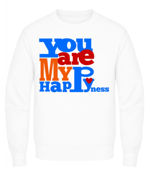 You Are My Happiness - Men's Sweatshirt - White - Front