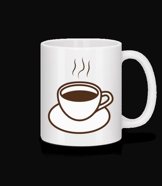 café - Keramický hrnček - Biela - Predné
