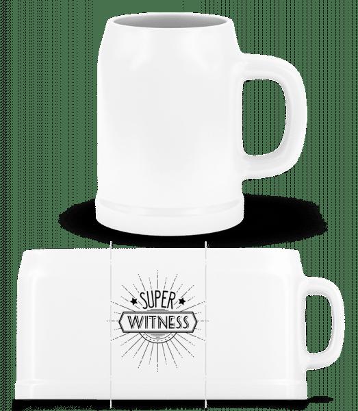 Super Witness - Beer Mug - White - Vorn