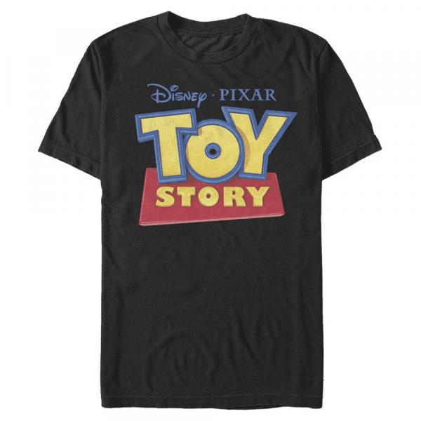 3D Logo - Pixar Toy Story 1-3 - Men's T-Shirt - Black - Front