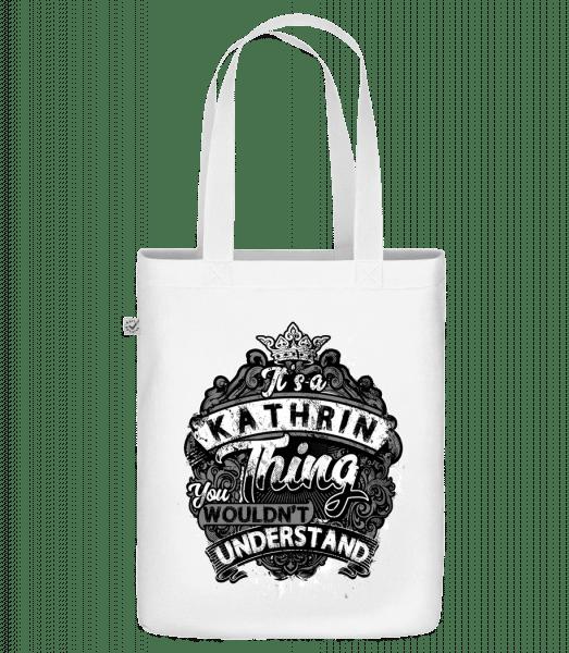 """Je to vec Kathrin - Organická taška """"Earth Positive"""" - Biela - Predné"""