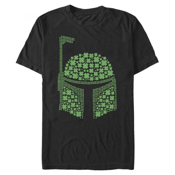 Boba Clovers Boba Fett - Star Wars - Men's T-Shirt - Black - Front