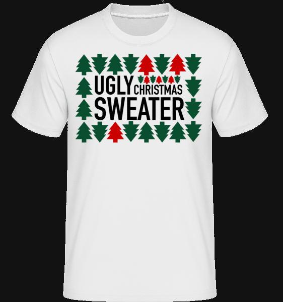 Ugly Christmas Sweater -  Shirtinator Men's T-Shirt - White - Vorn