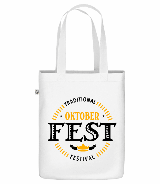 "Traditional Oktober Festival - Organic ""Earth Positive"" tote bag - White - Front"