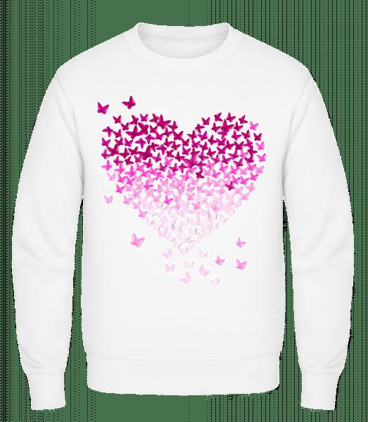 Butterfly Heart - Classic Set-In Sweatshirt - White - Vorn