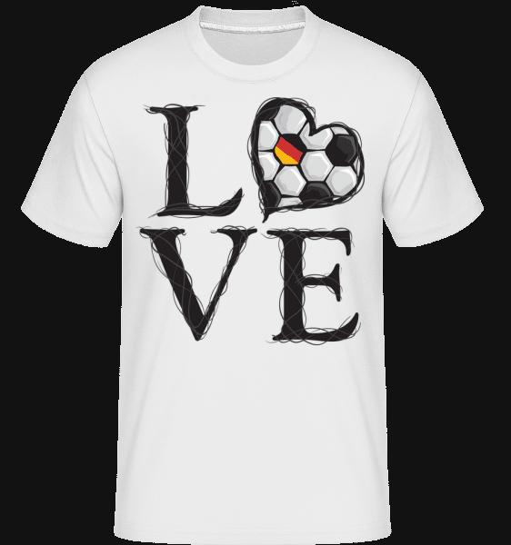 Football Love Germany -  Shirtinator Men's T-Shirt - White - Vorn