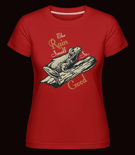 Rain Smell So Good -  Shirtinator Women's T-Shirt - Red - Vorn