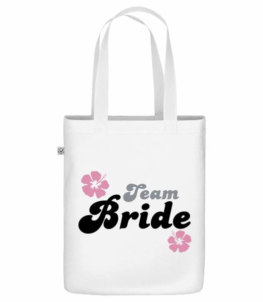 "Team Bride - Organic ""Earth Positive"" tote bag - White - Vorn"
