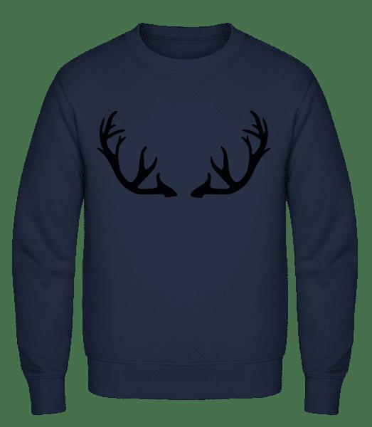 Deer Antlers - Classic Set-In Sweatshirt - Navy - Vorn