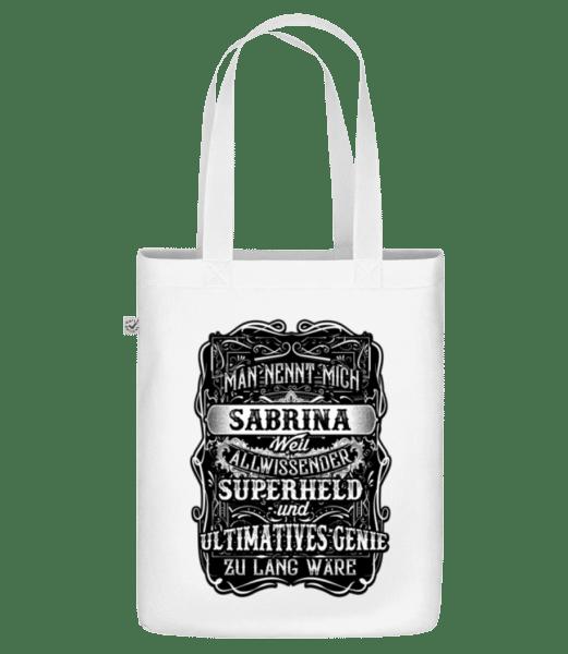 Man Nennt Mich Sabrina - Bio Tasche - Weiß - Vorn