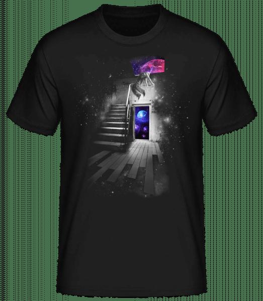 Universe House - Men's Basic T-Shirt - Black - Vorn