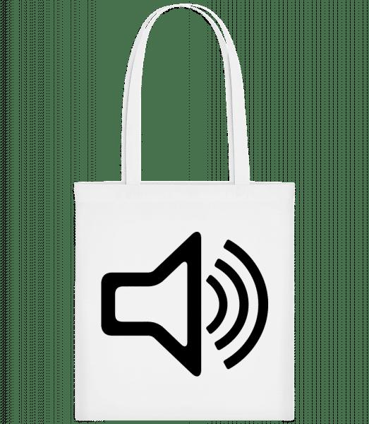 Lautsprecher Symbol - Stoffbeutel - Weiß - Vorn