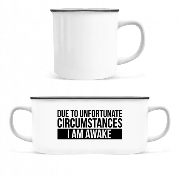 I Am Awake - Enamel-cup - White - Vorn