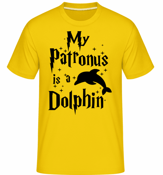 My Patronus Is A Dolphin -  Shirtinator Men's T-Shirt - Golden yellow - Vorn