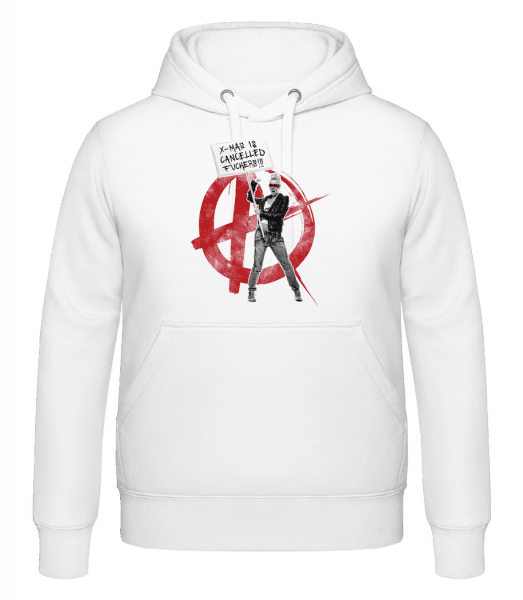 XMas Is Cancelled Fuckers - Hoodie - White - Vorn