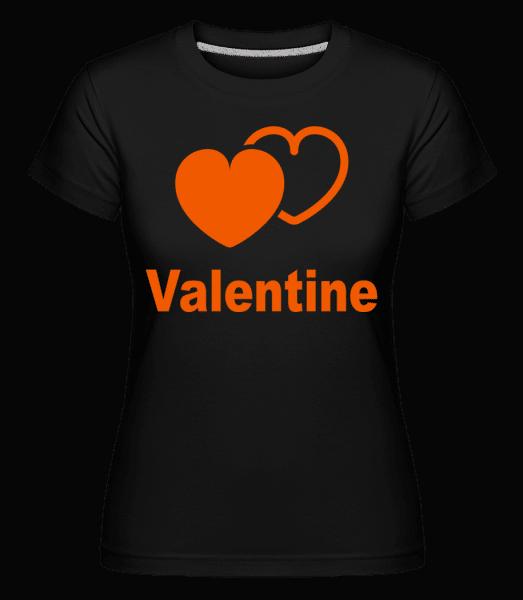 Valentine Heart -  Shirtinator Women's T-Shirt - Black - Vorn