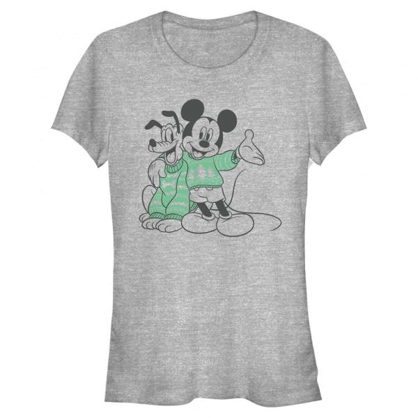 Sweater Pals Mickey & Pluto - Disney Mickey - Women's T-Shirt - Heather grey - Front