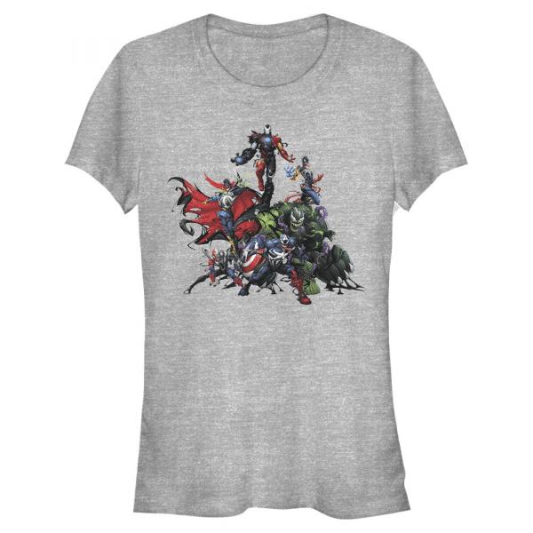 Venom Avengers - Marvel - Women's T-Shirt - Heather grey - Front