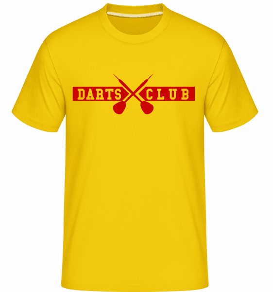 Dart Club -  Shirtinator Men's T-Shirt - Golden yellow - Front