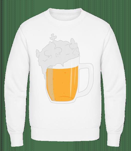 Beer - Classic Set-In Sweatshirt - White - Vorn