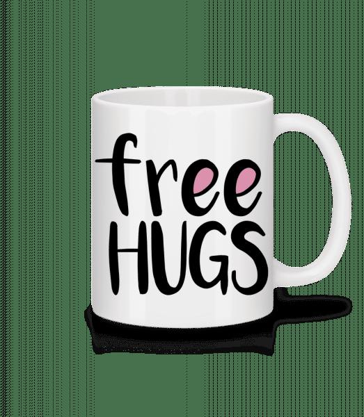 Free Hugs - Tasse - Weiß - Vorn