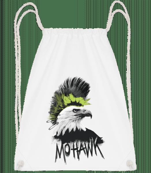 Mohawk - Drawstring Backpack - White - Vorn