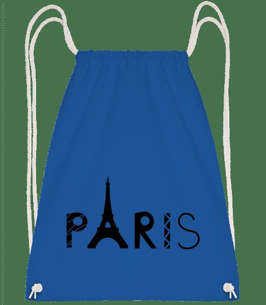 Paris France - Drawstring Backpack - Royal blue - Vorn