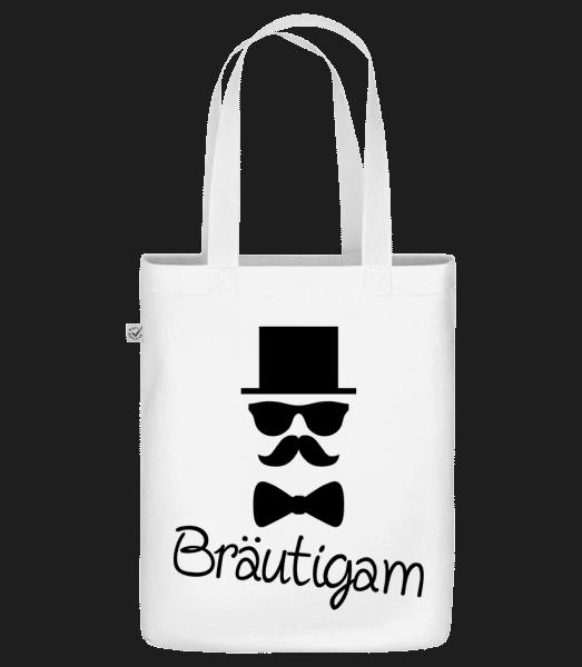 Bräutigam - Bio Tasche - Weiß - Vorn