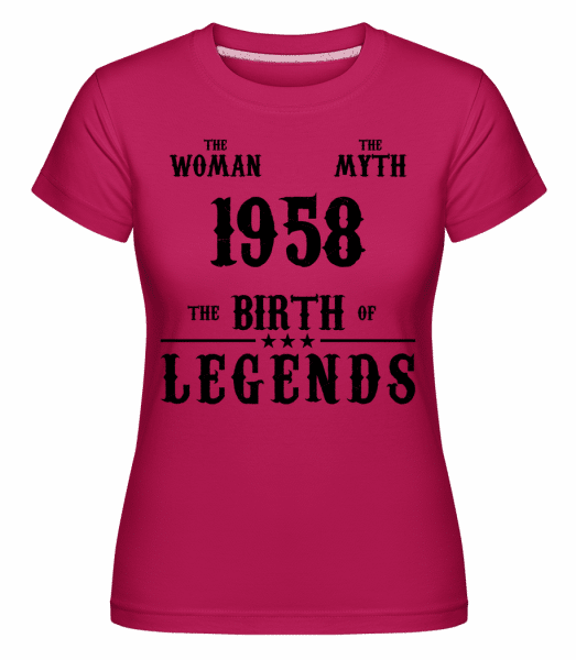 The Myth Woman 1958 -  Shirtinator Women's T-Shirt - Magenta - Vorn