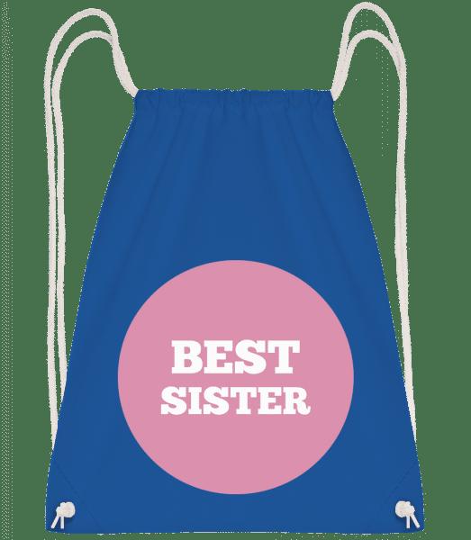 Best Sister - Drawstring batoh se šňůrkami - Královská modrá - Napřed