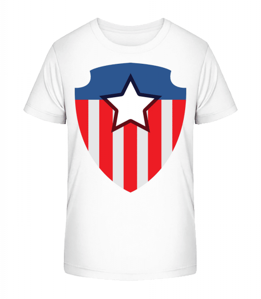 Superhero Emblem - Kid's Premium Bio T-Shirt - White - Vorn