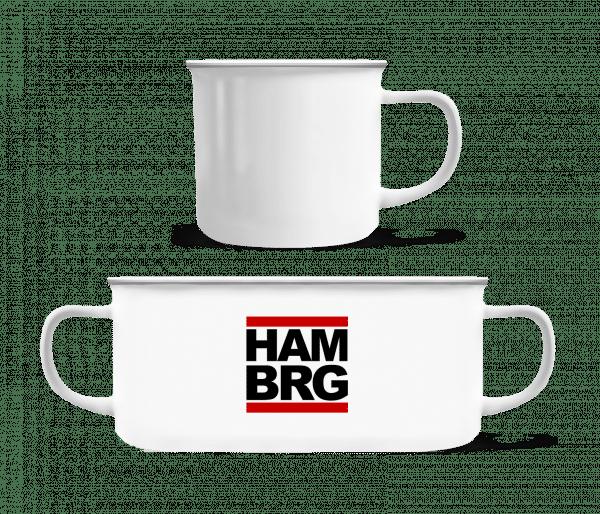 Hamburg Germany - Enamel-cup - White - Vorn