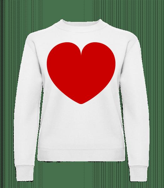 Heart - Classic Ladies' Set-In Sweatshirt - White - Vorn