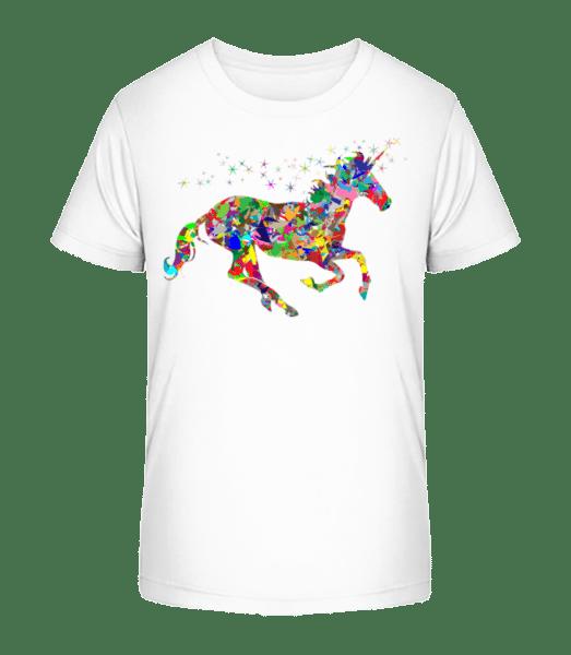 geometrie Unicorn - Detské Premium Bio tričko - Bílá - Napřed