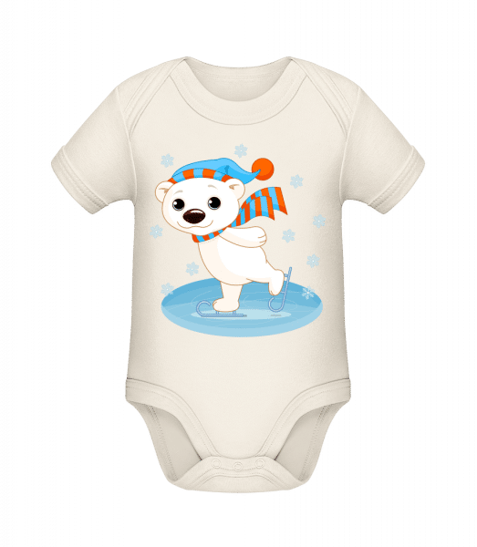 Bear On The Ice - Organic Baby Body - Cream - Front