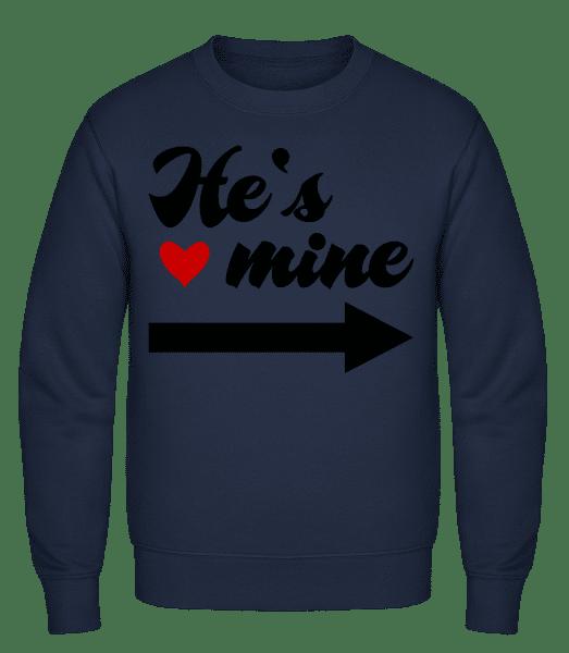 He's Mine - Classic Set-In Sweatshirt - Navy - Vorn