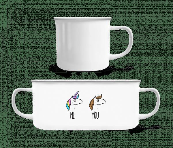 Me You Unicorns - Enamel-cup - White - Vorn