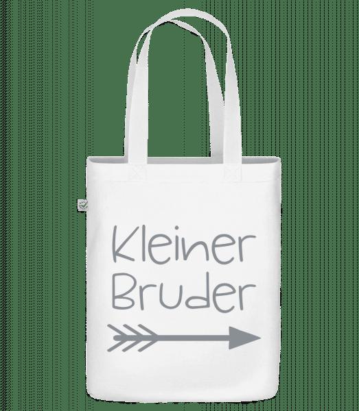 Kleiner Bruder - Bio Tasche - Weiß - Vorn