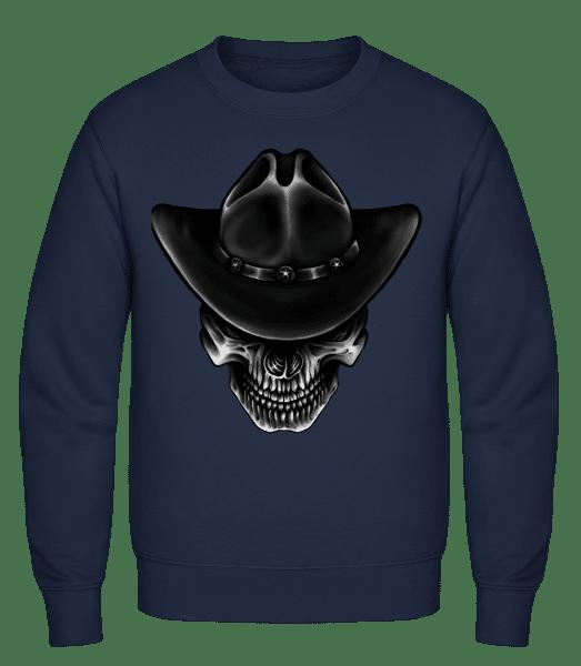Cowboy Skull - Klasická mikina sg - Namořnická modrá - Napřed