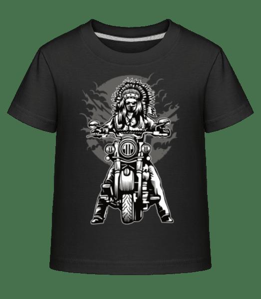 Indian Chief Motorcycle - Kid's Shirtinator T-Shirt - Black - Front