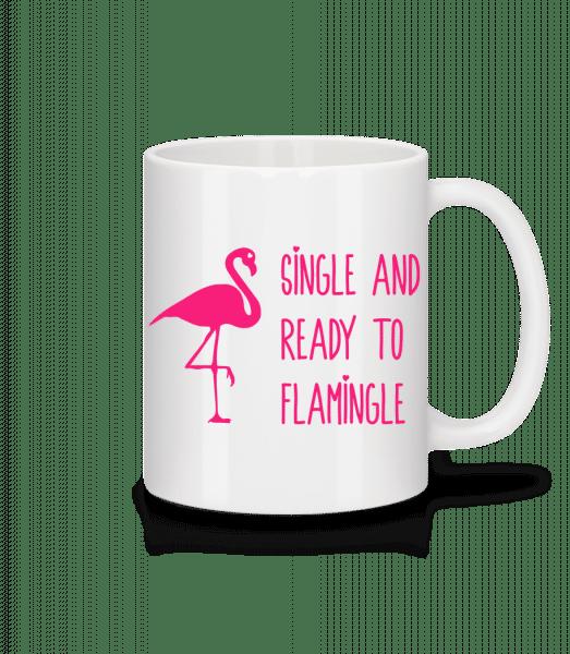 Single And Ready To Flamingle - Mug - White - Vorn