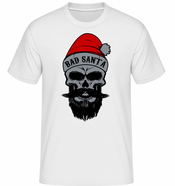 Bad Santa Skull -  Shirtinator Men's T-Shirt - White - Vorn